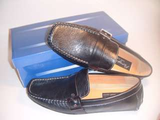 NIB MENS DRIVING SHOES COMFY LOAFER LEATHER BROWN BLACK