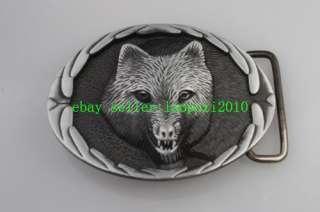 Western Wild Howling Wolf Mens BELT Buckle X08T