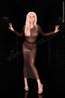 LATEX KLEID GUMMI LATEXKLEID RUBBER DRESS XS XXXL NEU