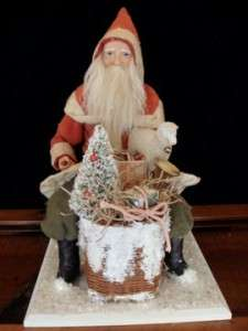 GERMAN STYLE SANTA BELSNICKLE TOY BASKET SHEEP TREE ~ SALE |