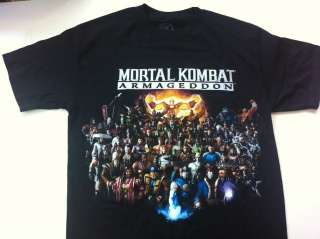 Mortal Combat Kombat Armageddon Black Hot Topic Tee Shirt NEW