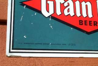 Vintage OLD Grain Belt Beer Mallord Duck Plaster Chalkware Plaque Sign