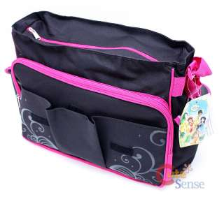 Disney Tinkerbell Faires School Messenger Bag Black& Pk