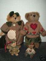 Boyds Bears 1997 Bailey and Matthew Plush and Ornaments
