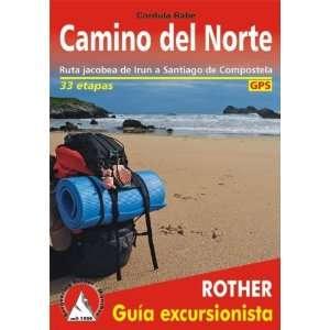 Rother Wanderführer Camino del Norte spanische Ausgabe. GPS Tracks