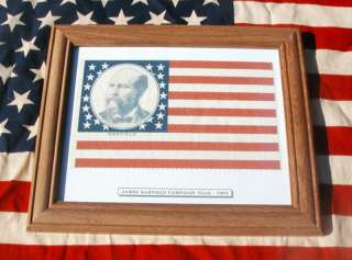 38 star American Flag, James Garfield Campaign of 1881