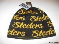 PITTSBURGH STEELERS OFFICIAL NFL LADIES KNIT HAT SCRIPT REVERSIBLE NEW