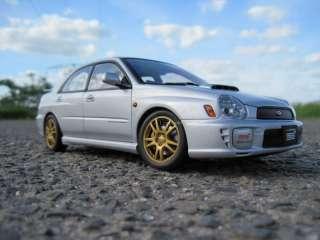 AutoArt,Subaru Impreza WRX STI 2001,Silber,Neu Top