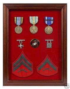 MILITARY SHADOW BOX MEDAL COIN RIBBON DISPLAY CASE #7