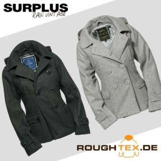 Surplus LADIES PEA COAT Damen Jacke Marine Caban kurz
