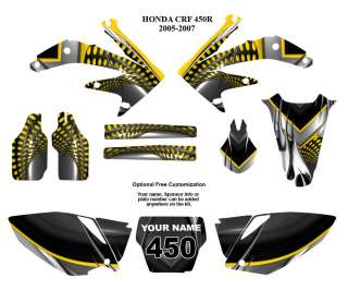 Honda CRF 450R 2005   2007 Motocross Bike Graphic Decal Kit