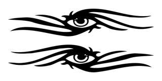 Tribal Flame Eyeball Vinyl Decal Sticker