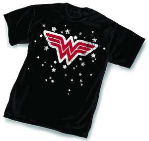 Wonder Woman Stars Symbol T Shirt