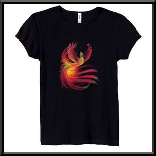 Ancient Phoenix Flaming Bird Mythical Fantasy WOMENS SHIRTS S,M,L,XL