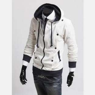 Fashion Slim Fitted Sexy Top Designed Rider Style Baseball Hoodie Coat