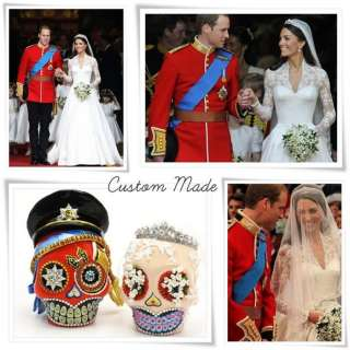 Made Personalized Skull Day of Dead Theme Wedding Cake Topper Handmade