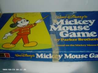 Vintage Walt Disneys Mickey Mouse Game   Parker Bros.
