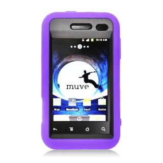 For ZTE SCORE X500 Hybrid Hard / Rubber Cover Case Black / Purple With