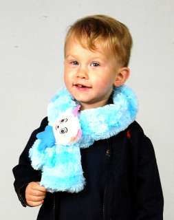 CHILDS PLUSH SCARF GOAT Blue Kids Winter Gear Animal