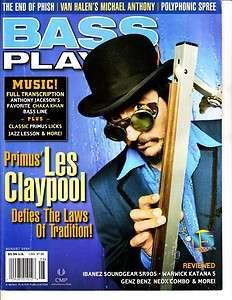 Bass Player Magazine August 2004 15/8 Les Claypool Primus