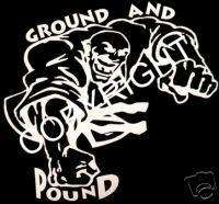 MMA Fight Guy Car Window Decal Sticker Ground and Pound