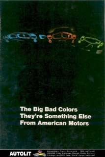 1969 AMC AMX Javelin Big Bad Colors Brochure