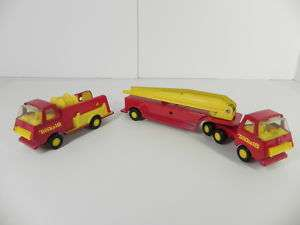 Tonka 18 Red & Yellow Fire Truck set Tonka toys Fire Ladder