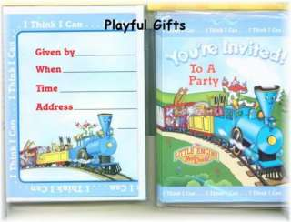 Little Engine That Could Birthday Invitation Clown