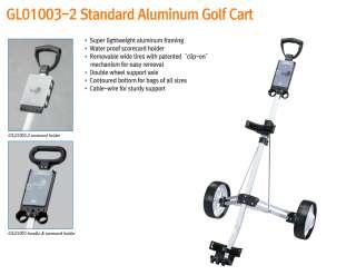 AMH GL01003 2 2 wheel Aluminum Push Pull Golf Cart