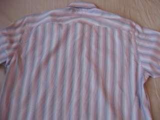 MENS DUNHILL LONDON LONG SLEEVE DRESS SHIRT LARGE