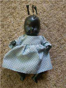 Vintage black Americana jointed bisque baby doll