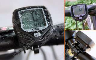Proof LCD Bicycle Bike Computer Odometer Speedometer Meter