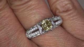 SI1 Fancy Yellow Diamond Engagement Wedding Ring 18k Gold