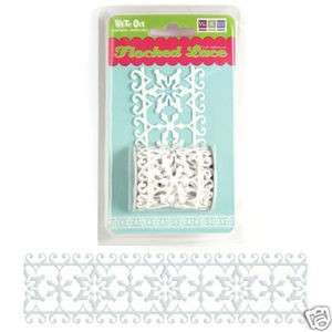 New 36 WRM We R Memory Keepers Scrapbook Adhesive LACE TRIM RIBBON
