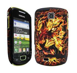 TiGER BURNiNG SKULL HARD SHELL CASE COVER SKiN FOR SAMSUNG GALAXY MiNi