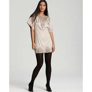 FRENCH CONNECTION Cream METAL MINDY STUDDED CHAIN DRESS 10