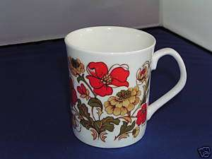 ELIZABETHAN MEADOW FLOWER TALL COFFEE CUP.