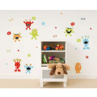 MONSTERS GLOW IN THE DARK 27 WALL STICKERS DECORATION