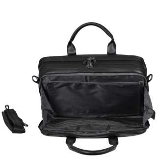 Dell Deluxe Black Leather 15.6 Laptop Bag (W0FCT) Made by Targus