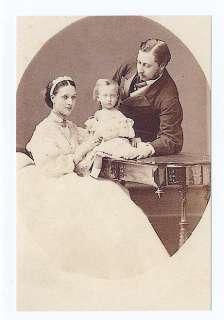 mm458  King Edward VII & Alexandra & baby Albert Victor 1864  Royalty