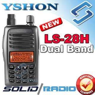 Yshon LS 28H dual band ham radio + FREE PTT earpiece