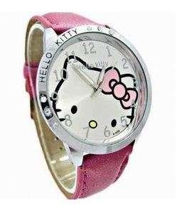 Montre Hello Kitty Rose Framboise avec strass sur le cadran   Tendance