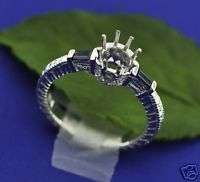 31ct sapphire & DIAMOND RING setting SEMI MOUNT white