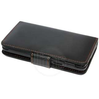 BLACK WALLET LEATHER CASE FOR SAMSUNG GALAXY S2 i9100