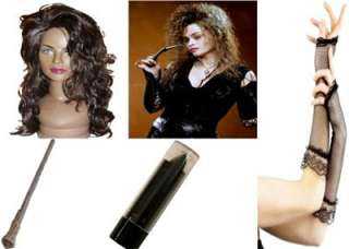 DELUXE BELLATRIX LESTRANGE HARRY POTTER FANCY DRESS COSTUME KITS