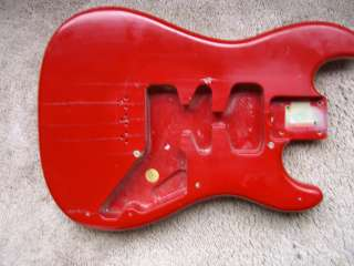 82 Fender USA Bullet guitar body Fiesta Red Hardtail Alder two