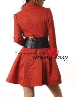 Orange Lady/women Long Trench coat/Jacket UK Sz 8 W1007