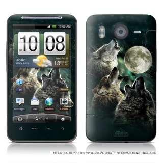HTC Desire HD Skin Cover Sticker THREE WOLF MOON Fantasy Vinyl Decal