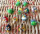 36pcs hand made clay cartoon figures mobil phone charms string strap