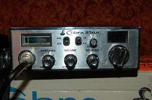VINTAGE COBRA 21 XLR 40 CHANNEL CB RADIO WITH ORIGINAL BOX